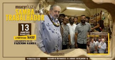 """Lançamento do CD """"Fazendo Samba"""" no Renascença Clube • 13-01 - Para quem estiver no Rio de Janeiro"""