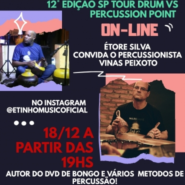 12ª EDIÇÃO SP TOUR DRUM VS PERCUSSION POINT